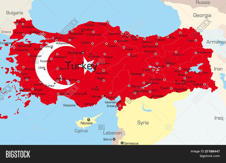 Vector Map Turkey Vector & Photo (Free Trial) | Bigstock
