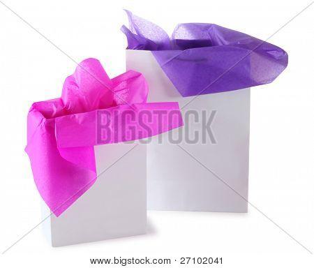 Gift bag. Isolated
