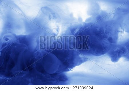 Ink In Water Blau Green Smoke Acrylic Art Colorful Abstract Background Isolated