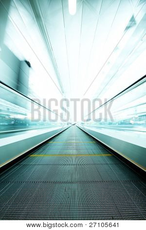 Abstract Escalator blur motion in the building