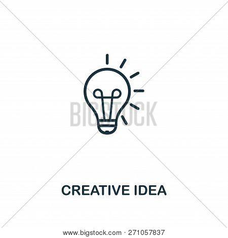 Creative Idea Icon. Premium Style Design From Design Ui And Ux Icon Collection. Pixel Perfect Creati