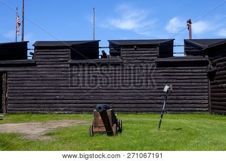 The Outer Wall Of The Fort William Henry In Lake George New York