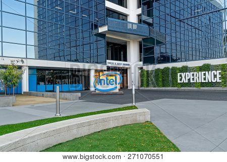 Intel Worldwide Corporate Headquarters And Trademark Logo