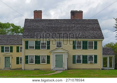 Historic Major John Buttrick House in Minute Man National Historical Park, Concord, Massachusetts, USA.