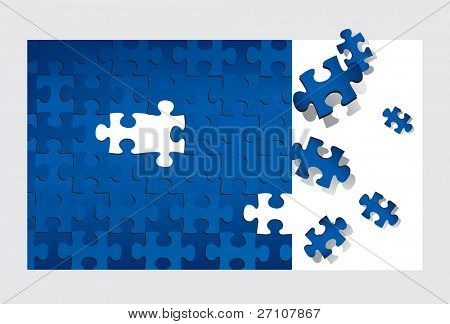 Puzzle (editable vector). In the gallery also available XXL jpeg image made from this vector