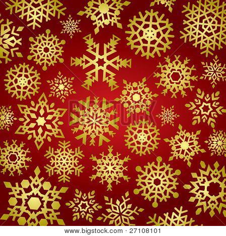 Snowflakes Background (vector). In the gallery also available XXL jpeg image made from this vector