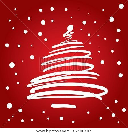 Christmas Tree (also available vector version of this image in our gallery)
