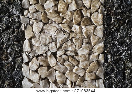 Textured Background Of Natural Stone. Close-up.natural Stone Wall Background Or Texture. Limestone R