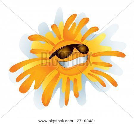 Funky Sonne (Vektor). in der Galerie machte auch verfügbar Xxl Jpeg-Bild von dieser Vektor