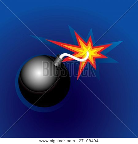 Exploding Bomb (vector). In the gallery also available XXL jpeg image made from this vector