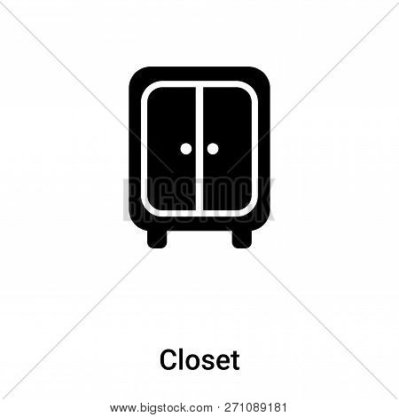 Closet Icon In Trendy Design Style. Closet Icon Isolated On White Background. Closet Vector Icon Sim