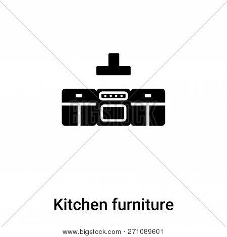 Kitchen Furniture Icon In Trendy Design Style. Kitchen Furniture Icon Isolated On White Background.