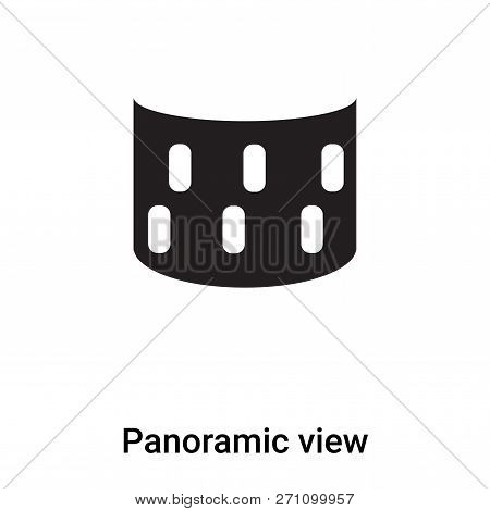 Panoramic View Icon In Trendy Design Style. Panoramic View Icon Isolated On White Background. Panora