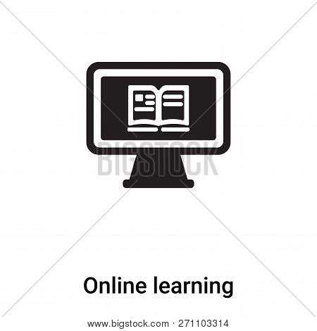 Online Learning Icon In Trendy Design Style. Online Learning Icon Isolated On White Background. Onli