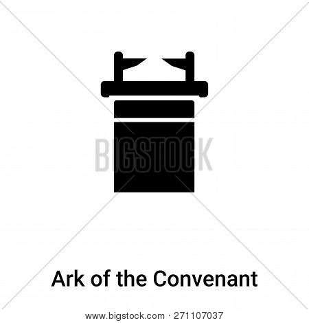 Ark Of The Convenant Icon In Trendy Design Style. Ark Of The Convenant Icon Isolated On White Backgr