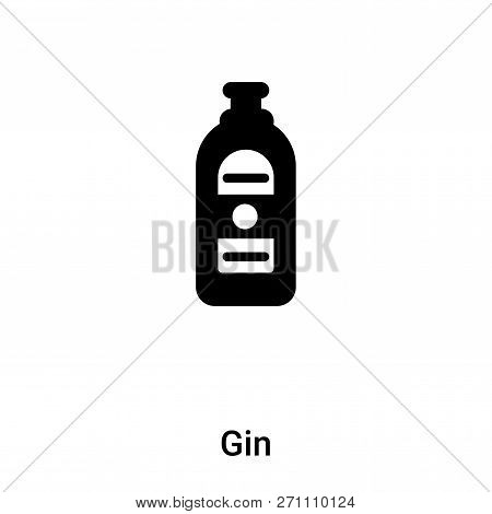 Gin Icon In Trendy Design Style. Gin Icon Isolated On White Background. Gin Vector Icon Simple And M