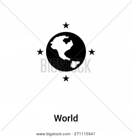 World Icon In Trendy Design Style. World Icon Isolated On White Background. World Vector Icon Simple