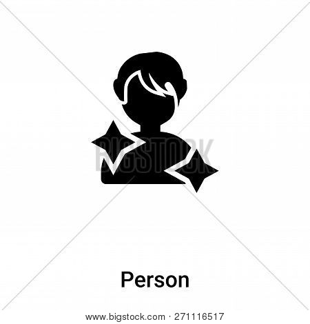 Person Icon In Trendy Design Style. Person Icon Isolated On White Background. Person Vector Icon Sim