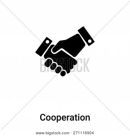 Cooperation Icon In Trendy Design Style. Cooperation Icon Isolated On White Background. Cooperation