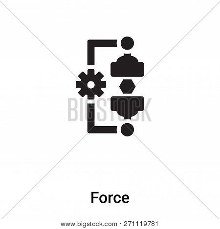Force Icon In Trendy Design Style. Force Icon Isolated On White Background. Force Vector Icon Simple