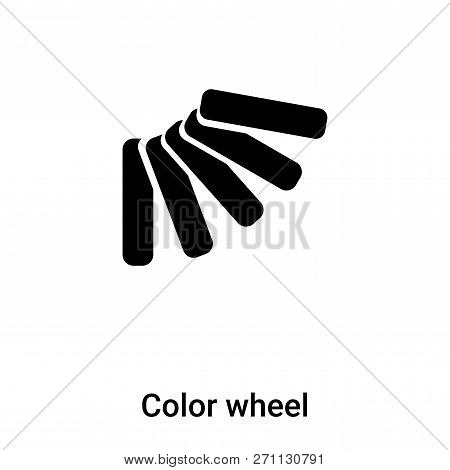 Color Wheel Icon In Trendy Design Style. Color Wheel Icon Isolated On White Background. Color Wheel