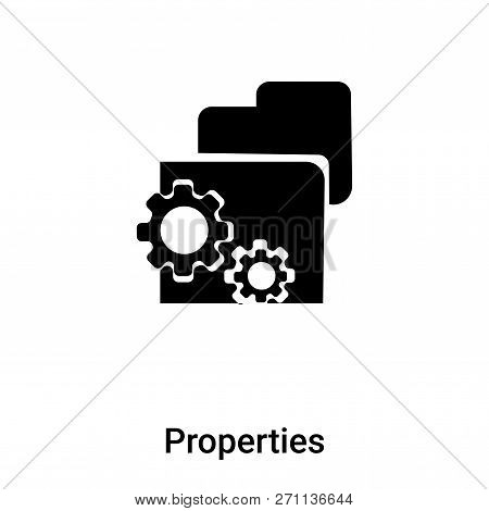 Properties Icon In Trendy Design Style. Properties Icon Isolated On White Background. Properties Vec