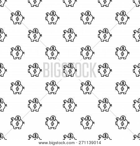 Economy Save Piggy Bank Pattern Seamless Vector Repeat For Any Web Design
