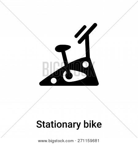 Stationary Bike Icon In Trendy Design Style. Stationary Bike Icon Isolated On White Background. Stat