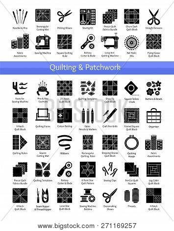 Quilting & Patchwork Supplies. Tools For Sewing Quilts From Fabric Squares & Blocks. Patterns For Qu