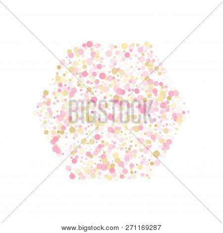 rose gold confetti circle decoration for new year card background birthday vector illustration gol