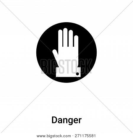Danger Icon In Trendy Design Style. Danger Icon Isolated On White Background. Danger Vector Icon Sim