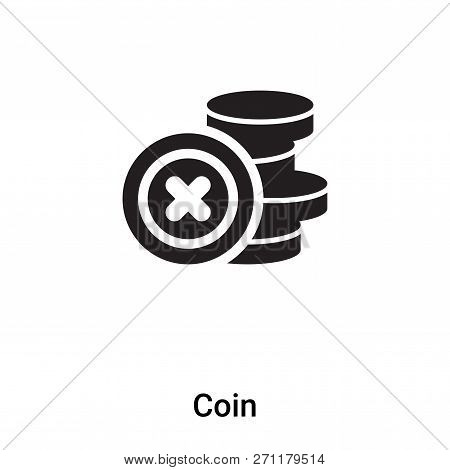 Coin Icon In Trendy Design Style. Coin Icon Isolated On White Background. Coin Vector Icon Simple An