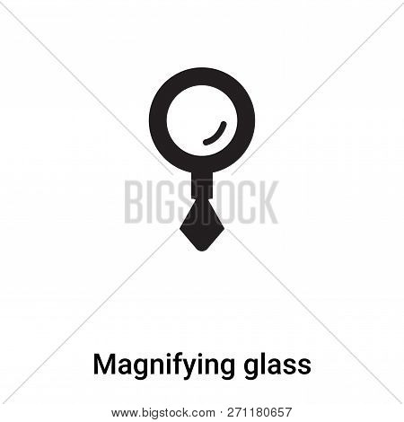 Magnifying Glass Icon In Trendy Design Style. Magnifying Glass Icon Isolated On White Background. Ma