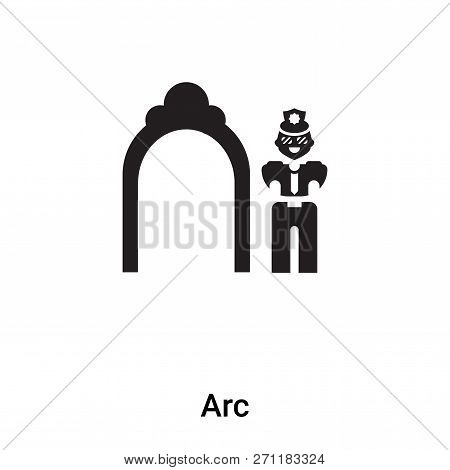 Arc Icon In Trendy Design Style. Arc Icon Isolated On White Background. Arc Vector Icon Simple And M