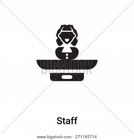 Staff Icon In Trendy Design Style. Staff Icon Isolated On White Background. Staff Vector Icon Simple