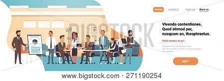 Business Presentation Flip Chart Concept Team Brainstorming Group People Professionals Meeting Discu