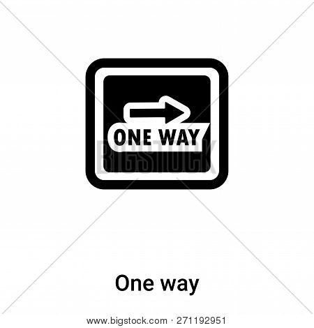 One Way Icon In Trendy Design Style. One Way Icon Isolated On White Background. One Way Vector Icon