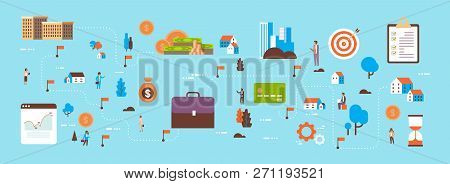 Investment Map Invest Business Opportunity People Manager Money Transfer Concept Successful Cash Inv