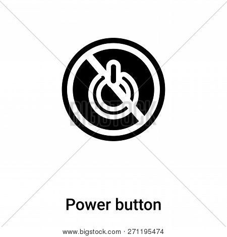 Power Button Icon In Trendy Design Style. Power Button Icon Isolated On White Background. Power Butt