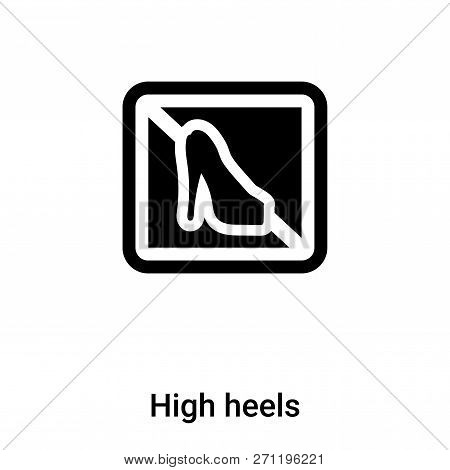 High Heels Icon In Trendy Design Style. High Heels Icon Isolated On White Background. High Heels Vec