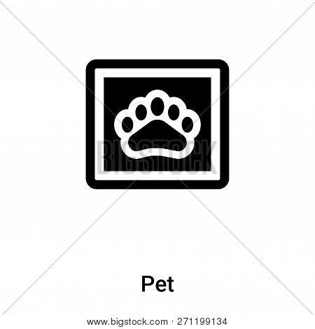 Pet Icon In Trendy Design Style. Pet Icon Isolated On White Background. Pet Vector Icon Simple And M