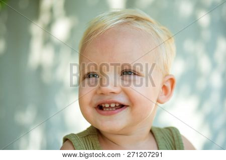 Smile A Little. Health Is Real Beauty. Little Baby Happy Smiling. Baby Boy Enjoy Happy Childhood. He