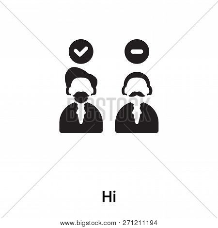 Hired Icon In Trendy Design Style. Hired Icon Isolated On White Background. Hired Vector Icon Simple