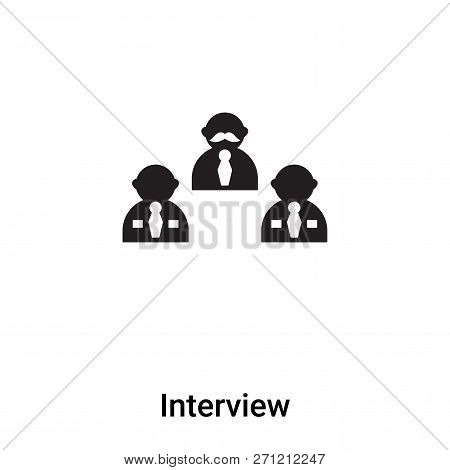 Interview Icon In Trendy Design Style. Interview Icon Isolated On White Background. Interview Vector
