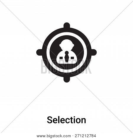 Selection Icon In Trendy Design Style. Selection Icon Isolated On White Background. Selection Vector