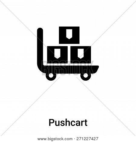 Pushcart Icon In Trendy Design Style. Pushcart Icon Isolated On White Background. Pushcart Vector Ic