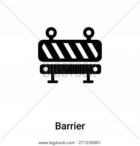 Barrier Icon In Trendy Design Style. Barrier Icon Isolated On White Background. Barrier Vector Icon