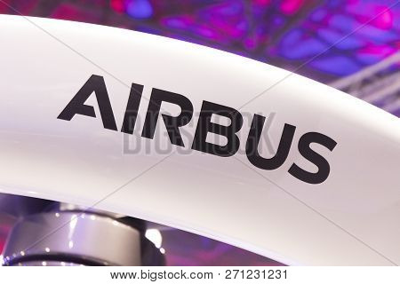 Airbus Letters On A Drone In Amsterdam