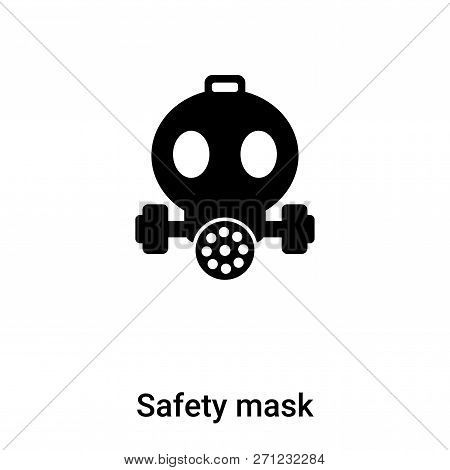 Safety Mask Icon In Trendy Design Style. Safety Mask Icon Isolated On White Background. Safety Mask