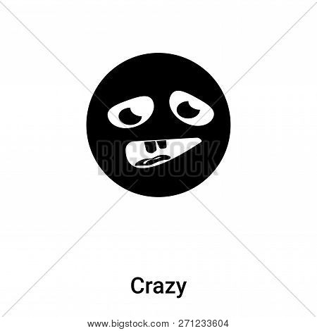 Crazy Icon In Trendy Design Style. Crazy Icon Isolated On White Background. Crazy Vector Icon Simple